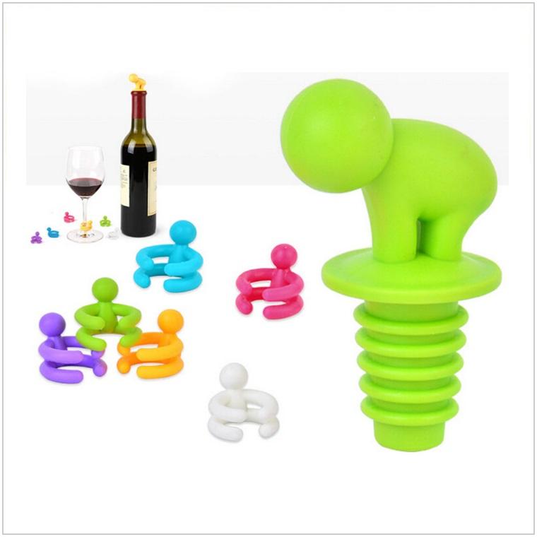 Zátka na láhev + 6 ks značkovačů na skleničky / AD-00122