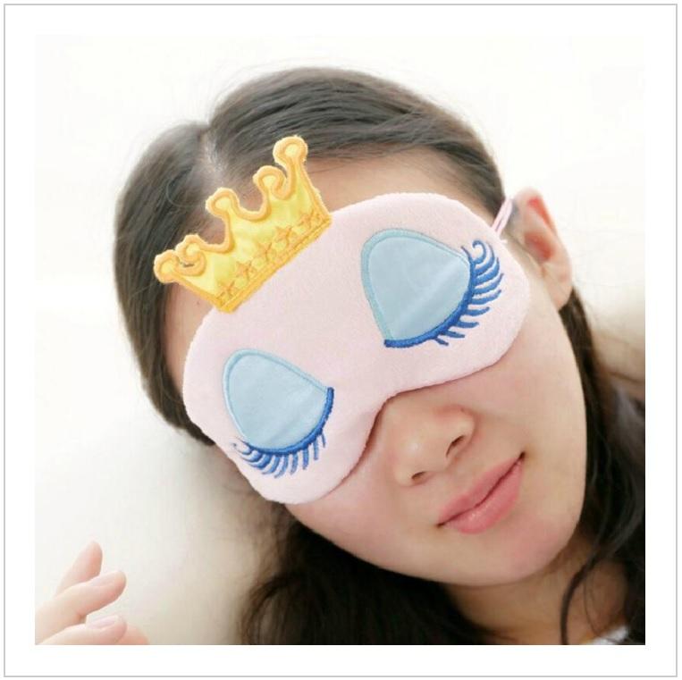 Oční maska na spaní - princezna (růžová) / AT-00153a