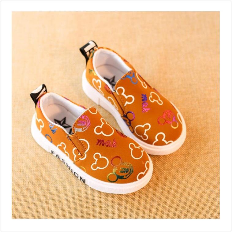 Dětské boty - oranžové / AD-00207c