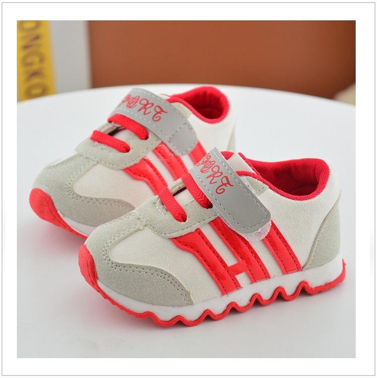Dětské boty - červené / AD-00219a